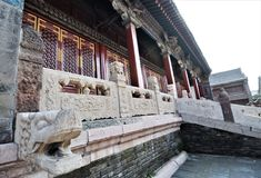 Ancient Chinese temple pagoda castle. Shot of Ancient Chinese temple pagoda castle Stock Photography