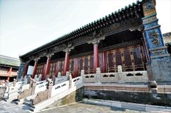Ancient Chinese temple pagoda castle. Shot of Ancient Chinese temple pagoda castle Royalty Free Stock Photo