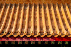 Ancient Chinese Temple Roof. The Ancient Chinese Temple Roof Stock Images