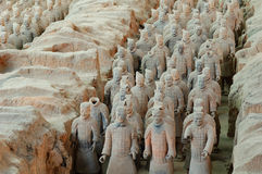 The ancient  Chinese Terracotta Army Stock Photo