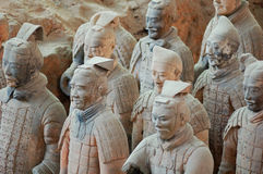 The ancient  Chinese Terracotta Army Royalty Free Stock Images