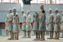 The ancient  Chinese Terracotta Army Royalty Free Stock Photo