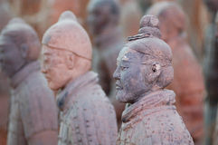 The ancient  Chinese Terracotta Army Stock Photos
