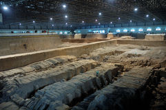 The ancient  Chinese Terracotta Army Stock Image