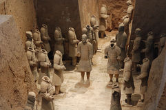 The ancient  Chinese Terracotta Army Royalty Free Stock Photos
