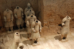 The ancient  Chinese Terracotta Army Stock Photography