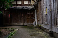 Ancient Chinese timber structural dwelling building Royalty Free Stock Image