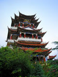 Ancient Chinese Towers. Side shot of An Ancient Temple, Yunnan, China Stock Images