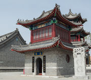 The ancient Chinese traditional architecture. Traditional Chinese building, has a long history and brilliant achievements. China's ancient architectural art and Royalty Free Stock Image