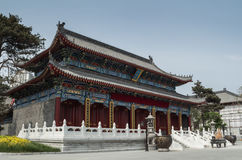 The ancient Chinese traditional architecture. Traditional Chinese building, has a long history and brilliant achievements. China's ancient architectural art and Stock Images