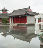 The ancient Chinese traditional architecture. Ancient Chinese architecture is mainly wooden frame structure, namely, beams and wooden beam is adopted to form the Royalty Free Stock Photos
