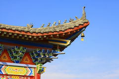 Ancient Chinese traditional style of eaves of Landscape Architec Royalty Free Stock Photos