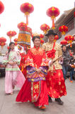 The ancient Chinese traditional wedding Stock Photos