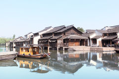 The ancient Chinese village Stock Photos