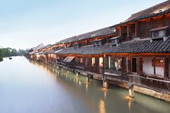 Ancient Chinese village Stock Images