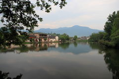 Ancient chinese village in south china, hongcun Stock Photography