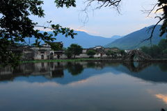 Ancient chinese village in south china, hongcun stock image