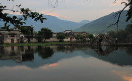 Ancient chinese village in south china, hongcun stock photo