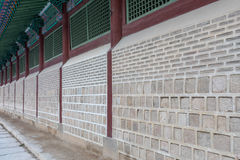 Ancient Chinese Wall of Temple Background Stock Image