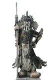 Ancient Chinese warrior. Sculpture at Wat Pho in Bangkok, Thailand Stock Photos