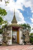 Ancient Chinese warrior Demon stone statuesat Wat Pho Stock Photography