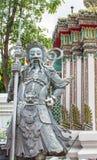 Ancient Chinese warrior Demon stone statuesat Wat Pho Royalty Free Stock Photos