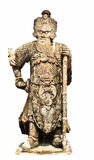Ancient Chinese warrior sculpture Stock Images