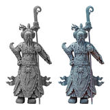 The ancient Chinese warrior statues Royalty Free Stock Photography