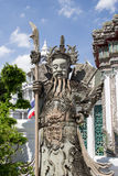 The ancient Chinese warrior statues. Stock Images