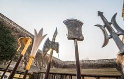 Ancient Chinese weapons. Zhonghua gate, Nanjing, China Royalty Free Stock Photography