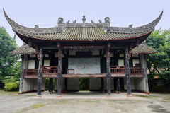 Ancient Chinese wood-structural opera tower Royalty Free Stock Images