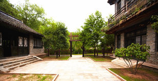 Ancient chinese yard Royalty Free Stock Images