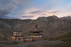 Ancient chortens in Dolpo area, Nepal Stock Image