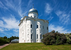 Ancient christian church. On the sky background Royalty Free Stock Photo