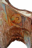 Ancient christian church arch murals Royalty Free Stock Images