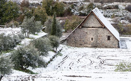 Ancient Christian church of Panagia Podithou from Cyprus. Stock Image