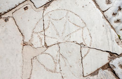 Ancient Christian Circle Symbol in Turkey Stock Photos