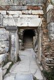 Ancient Christian doorway. Ancient doorway to Christian catacombs in Ephesus, Turkey Royalty Free Stock Image