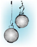 Ancient christmas balls Royalty Free Stock Images