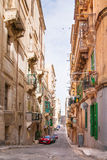 Ancient Christopher street in Valletta, Malta. Stock Photography