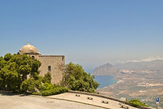 Ancient church. In erice, in sicily Royalty Free Stock Images