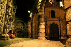 Ancient Church. A View of the interiors of an ancient church in Arequipa, Peru Royalty Free Stock Photos