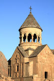 Ancient church. The sunny ancient armenian church in summer Royalty Free Stock Image