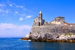 Ancient church along the sea Royalty Free Stock Photography
