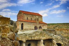 Ancient church in ancient cave town. royalty free stock photo