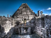 An ancient church on the Aran Islands, Ireland. An ancient but still used church on Inis Mor, the Aran Islands, Ireland Royalty Free Stock Images