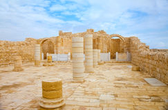 Ancient church in Avdat Royalty Free Stock Photos