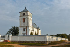 An ancient church is in the Belarussian village Novy Sverjen. An ancient church is in the Belarussian village royalty free stock image