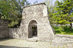 Ancient church building. Old portal next to the church of Saint Sarkis Stock Photos