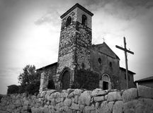 Ancient church. Built with stones, Italy Stock Image